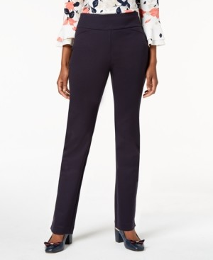 Charter Club Petite Pull-On Ponte-Knit Pants, Created for Macy's