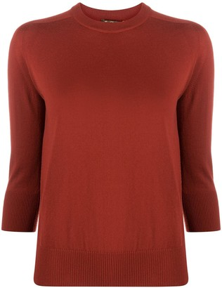 Loro Piana Cropped Sleeve Cashmere-Knit Top