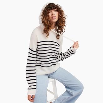 Naadam Striped Cashmere Oversized Hoodie