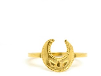 Annabelle Lucilla Jewellery Lucky Crescent Moon Ring