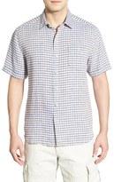 Tommy Bahama Men's 'Chill Zone Breezer' Original Fit Short Sleeve Linen Sport Shirt