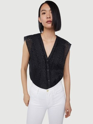 Frame Lace Pintuck Blouse