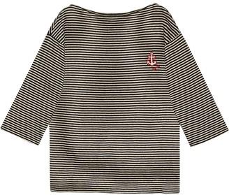 Gucci Anchor-Logo Striped Jumper