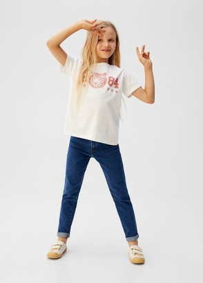 MANGO Printed message t-shirt off white - 5 - Kids