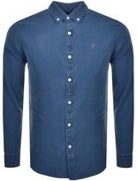 Farah Brewer Long Sleeve Shirt Blue