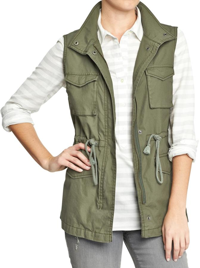 Old Navy Women's Canvas Drawstring Vests