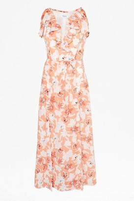 Great Plains Tulum Floral Maxi Dress - 10 / Rust Multi Combo