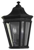 Feiss Murray Lighting OL5403BK Cotswold Lane - Two Light Outdoor Wall Lantern, Finish with Clear Beveled Glass