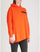 Izzue Label-detail cotton-blend hoody