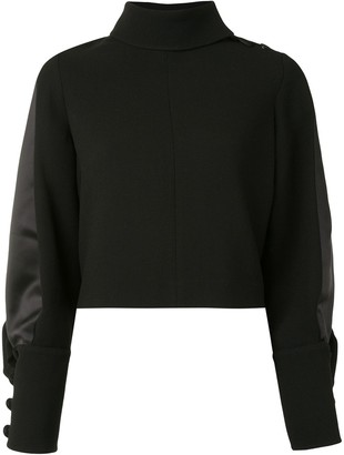 Dice Kayek Ruffle Trim Mock Neck Jumper