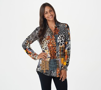 Women With Control Attitudes by Renee Regular Two-Print Front Pocket Shirt