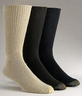 Gold Toe Fluffies Crew Socks 3-Pack Extended Sizes Hosiery - Men's
