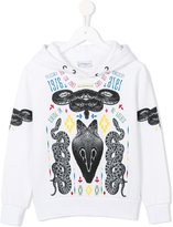 Marcelo Burlon County Of Milan Kids - graphic print hoodie - kids - Cotton/Polyester - 4 yrs