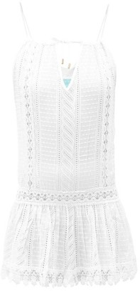 Melissa Odabash Chelsea Embroidered Cotton-voile Mini Dress - Womens - White