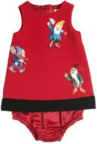 Dolce & Gabbana Dwarfs Embroidered Dress & Diaper Cover