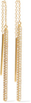 Ileana Makri Bull Bar 18-karat gold diamond earrings