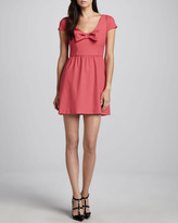 RED Valentino Scoop-Neck Bow Dress, Begonia Pink
