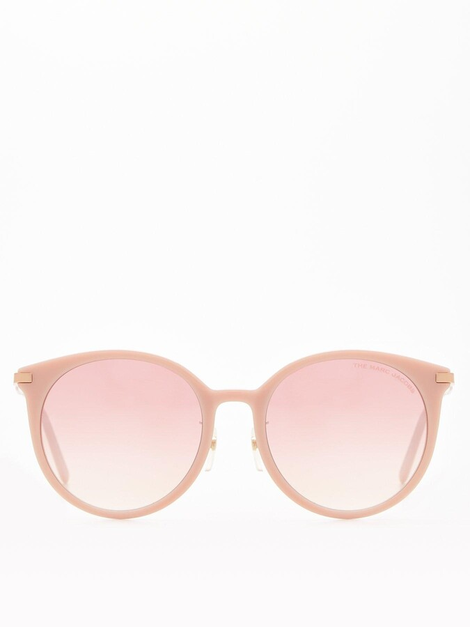 Thumbnail for your product : Marc Jacobs Round Sunglasses - Nude