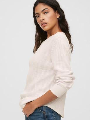 Gap Waffle-Knit Crewneck T-Shirt