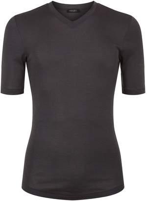 Hanro Thermal Silk-Cashmere V-Neck T-Shirt
