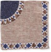Brunello Cucinelli The Peyton Geometric Pocket Square