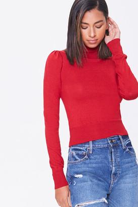Forever 21 Turtleneck Ribbed-Trim Sweater