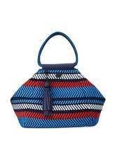 Tory Burch Woven Mesh Triangle Satchel Bag, Multi