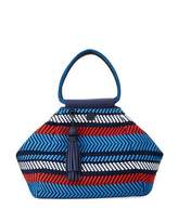 Tory Sport Woven Mesh Triangle Satchel Bag