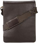 Visconti Mocha Leather Tablet Messenger Bag