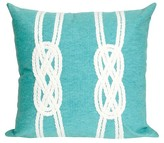 "Liora Manné Double Knot Throw Indoor/Outdoor Pillow Aqua (20""x20"")"