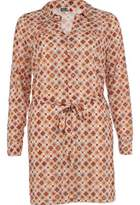 River Island Womens Beige print chelsea girl shirt dress