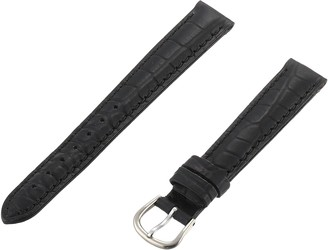 Momentum ZC-14CRG BLACK 14mm Croc Grain Leather Calfskin Black Watch Strap