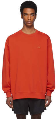 Acne Studios Red Oversized Forba Face Sweatshirt