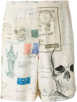Alexander McQueen skull print bermuda shorts - men - Viscose - 46