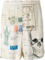 Alexander McQueen skull print bermuda shorts