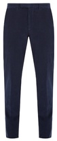 Ermenegildo Zegna Mid-rise Slim-leg Stretch-cotton Corduroy Trousers