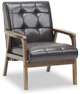 Baxton Studio Mid-Century Masterpieces Club Chair, Brown