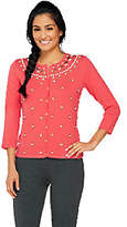 Isaac Mizrahi Live! Special Edition Embellished Cardigan
