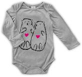 Urban Smalls Light Gray Otters Holding Hands Long-Sleeve Bodysuit - Infant