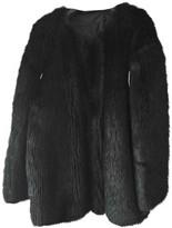 Karl Lagerfeld Paris Black Faux fur Coats