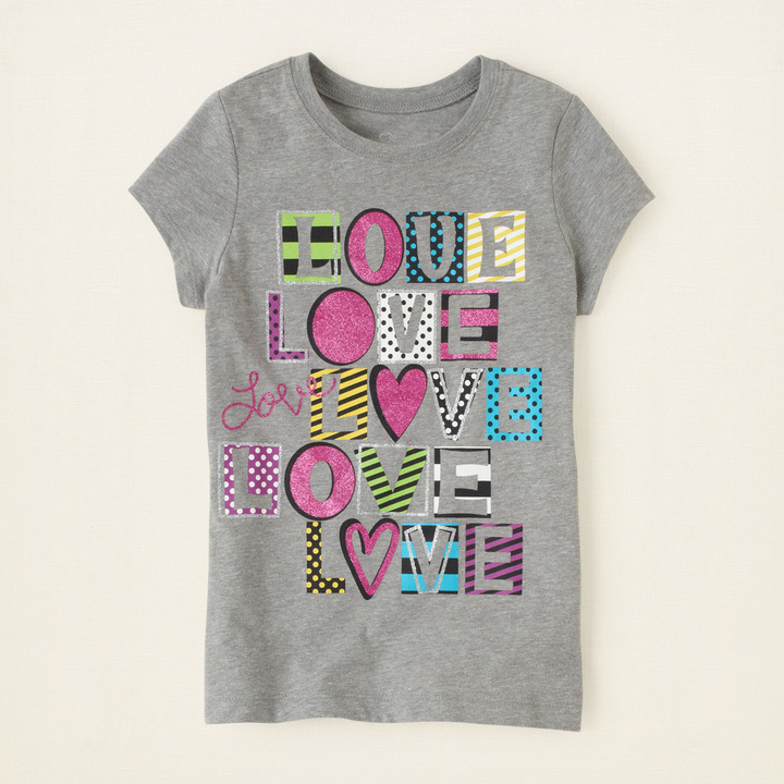 Children's Place Love graphic tee