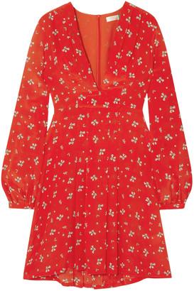 Rixo Harper Floral-print Silk Crepe De Chine Mini Dress