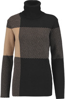 Chloé Jacquard-knit wool-blend turtleneck sweater