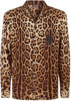 Dolce & Gabbana Leopard Print Silk Pyjama Shirt