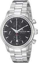 Alpina Men's AL-750B4E6B Alpiner Chronograph Analog Display Automatic Self Wind Silver Watch