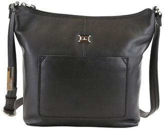 Cellini CLQ213 Ridgeway Zip Top Black Crossbody Bag