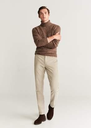 MANGO Slim fit corduroy trousers