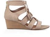 Sole Society Yasmin Snake lace up wedge