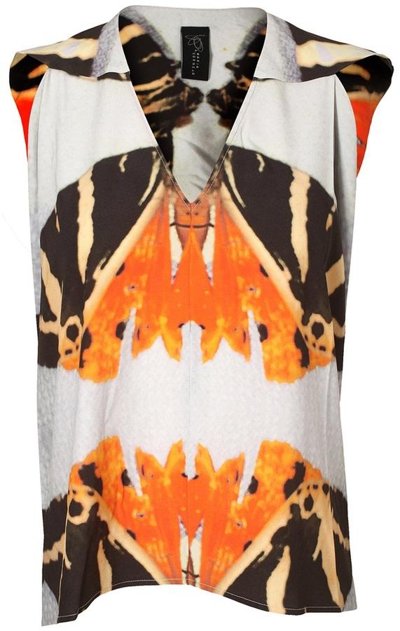 Zero Maria Cornejo 'Ines' butterfly printed top