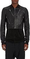Rick Owens Men's Leather Crop Bomber Jacket